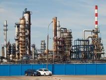 Luglio 2016, Mosca, Russia Raffineria di petrolio di Mosca in Kapotnya immagini stock libere da diritti