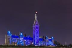 15 luglio 2015 - Ottawa, sulle costruzioni del Parlamento del Canada - del Canada Fotografie Stock