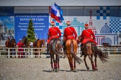 25 luglio 2015 Presentazione cerimoniale della scuola di guida di Cremlino su VDNH a Mosca Fotografie Stock Libere da Diritti
