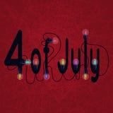 4 luglio progettazione americana di festa dell'indipendenza Royalty Illustrazione gratis