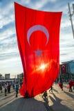 15 luglio proteste di tentativo di colpo a Costantinopoli Immagine Stock