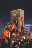 15 luglio proteste di tentativo di colpo a Costantinopoli Fotografie Stock