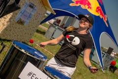 26 luglio 2015 Red Bull Flugtag Prima degli inizio della concorrenza Fotografie Stock