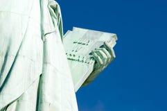 4 luglio statua della libertà della compressa di festa dell'indipendenza Fotografie Stock