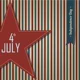 4 luglio stella Fotografia Stock