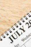 Luglio sul calendario. Immagini Stock Libere da Diritti