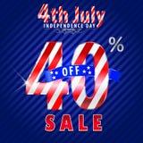 4 luglio vendita di festa dell'indipendenza, 40% fuori dalla vendita - vector eps10 illustrazione vettoriale