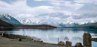 Lugn av sjön Tekapo, Nya Zeeland Arkivbilder