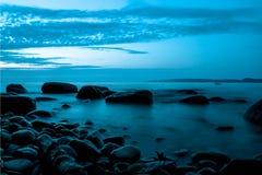 Lugn av sjön Vättern Arkivbilder