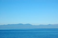 lugn seascape Arkivfoton