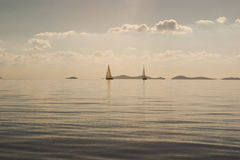 Lugna Adriatiskt hav Arkivbild