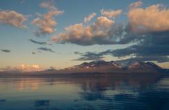 Lugna Akkajaure sjö Fotografering för Bildbyråer