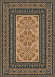 Lugna färgläggningmatta med blått- och bruntskuggor Royaltyfri Fotografi