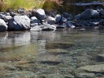 Lugna flodflöde royaltyfri fotografi
