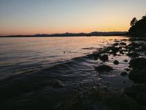 Lugna hav arkivbild