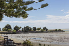 Lugna hav av Abel Tasman National Park, södra ö, nya Ze Arkivbild