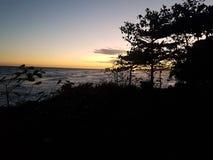 lugna havssolnedgång royaltyfri fotografi