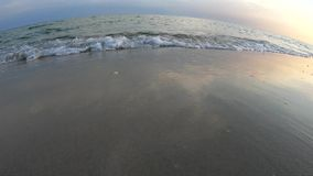 Lugna havsvågor på stranden stock video