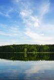 lugna lake Fotografering för Bildbyråer