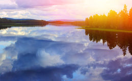 Lugna laken Arkivfoto