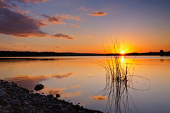 Lugna solnedgång Royaltyfri Fotografi
