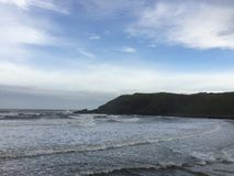 Lugna strand Arkivfoto