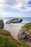 Lugo coast detail Royalty Free Stock Images