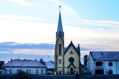 Lugoj Protestant Church Stock Photo