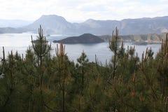 lugu湖在中国 免版税图库摄影