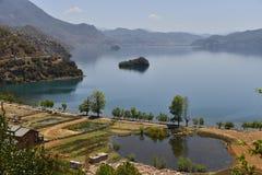 Lugu湖,妇女的王国 免版税图库摄影