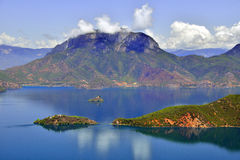 Lugu湖,妇女的王国 免版税库存照片