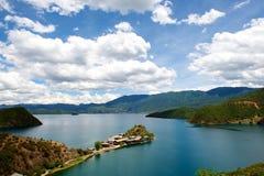 Lugu湖 库存照片