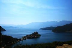 湖lugu 免版税库存图片
