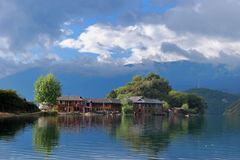 lugu de lac Photo stock