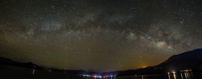 Lugu Jeziorny Milky sposób fotografia stock