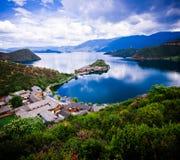 Lugu Lake fotografering för bildbyråer
