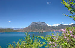 Lugu lake. In Yunnan Prov China, local people keep a maternal society Royalty Free Stock Photography