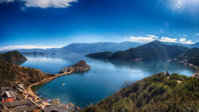 Lugu Lake Royaltyfri Bild