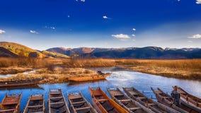 Lugu Lake arkivbild