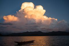 Lugu lake scenery Royalty Free Stock Image