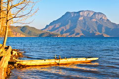 Lugu Lake(Luguhu) bank Royalty Free Stock Photo