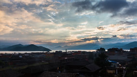 Lugu Lake morning view Stock Photography