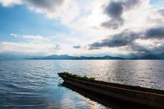 Lugu Lake morning view Royalty Free Stock Photography