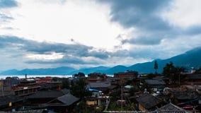 Lugu Lake morning view Royalty Free Stock Photos