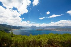 Lugu Lake panorama Stock Images