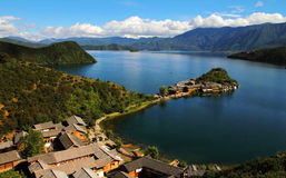 Lugu Lake scenery Royalty Free Stock Photos