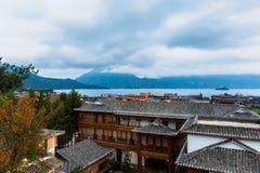 Lugu Lake view Stock Photo