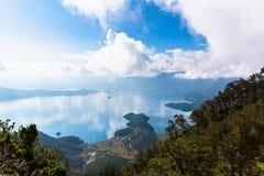 Lugu Lake view Stock Photos