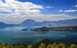 Lugu lake, the Women's Kingdom Stock Photo