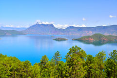 Lugu lake, the Women's Kingdom Royalty Free Stock Photo